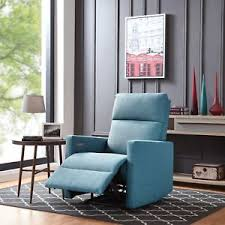 prolounger turquoise blue power wall hugger recliner chair with