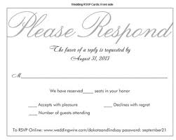 Wedding Rsvp Wording Examples Rsvp U0027s And Those Who Used