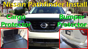 nissan rogue all weather mats 2017 pathfinder install rear bumper protector cargo protector