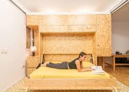 Modular Bed Frame Split Slide Modular Dividers Make 3 Rooms In Single Space