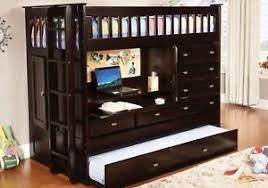 bunk bed with desk dresser and trundle kendall cappuccino loft bed with desk dresser trundle in one ebay