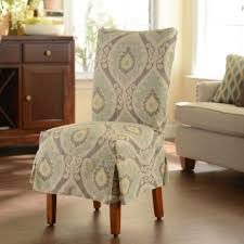 blue ikat parsons chair slipcover kirklands