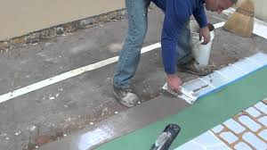 How To Resurface Concrete Patio How To Use A Spray Mix Micro Topping Overlay For Resurfacing