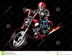 motorcycle riding leathers skull wearing a leather biker jacket and ride a motorcycle stock