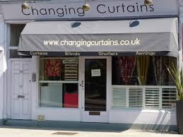 Dutch Awnings Motorised Dutch Canopy With Signwriting Changing Curtains
