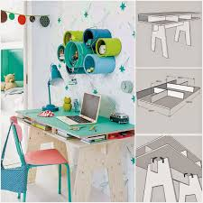 Diy Childrens Desk by Diy Cool Kids Desk From Plywood Diy Fun World