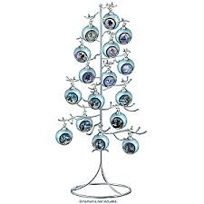silver wire ornament tree display