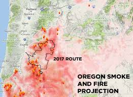 a map of oregon wildfires cycle oregon cancels ride for the time in its history due