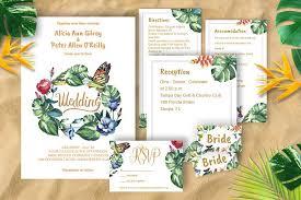 tropical wedding invitations tropical wedding invitation diy templates creativ and gold foil