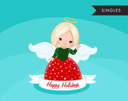 christmas angel clipart dark skin african american holiday