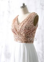 sequin chiffon bridesmaid dresses rose gold sequin bridesmaid