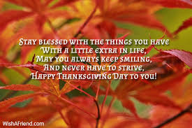 stay blessed with the things you thanksgiving message