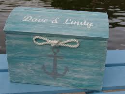 Nautical Themed Ribbon - personalized tiffany blue nautical themed beach wedding card box