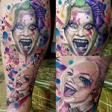 joker tattoo video tattoo time lapse joker harley quinn suicide squad by jared