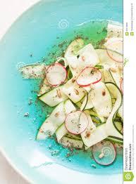 fresh raw food diet salad close up zucchini u0027tagliatelle u0027 radish