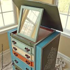 Jewelry Armoire Vintage Jewelry Armoire Makeover With Paint And Stencils