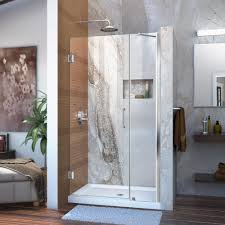 40 Shower Door Dreamline Unidoor 40 To 41 In X 72 In Frameless Hinged Pivot