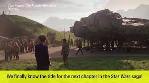 star wars episode viii title revealed the last jedi
