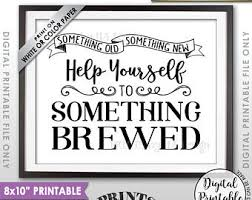 something something new something borrowed something brewed printable sign printable sign wedding