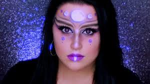 alien makeup tutorial glam alien halloween makeup youtube