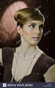 pearl necklace woman images Elegant woman with pearl necklace stock photos elegant woman jpg