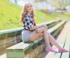 Cool Stock by Summer Portrait Stylish Cool Posing In The City U2014 Stock Photo