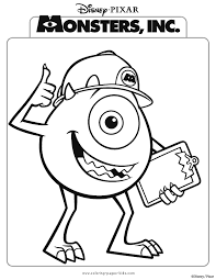 monsters coloring pages printable disney coloring pages