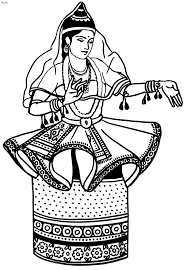 folk dances of india coloring pages indian classical manipuri