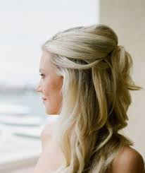 wedding hairstyles ideas side ponytail curly all down wedding