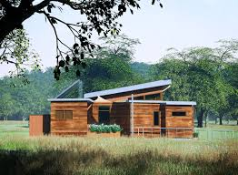 the nest home is a solar powered prefab made from recycled