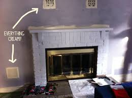 artisan des arts 350 family room update painted fireplace
