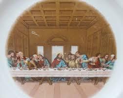 sanders mfg co lord s supper plate sanders mfg co etsy