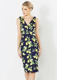 pretty dress the pretty dress company lemon print dress grattan