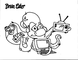 brain eater coloring page team unthinkables superflex social