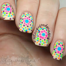 neon polka dots easy nail art youtube