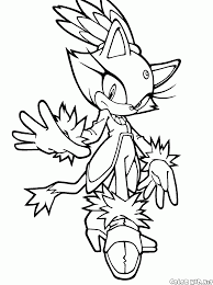 coloring page blaze the cat