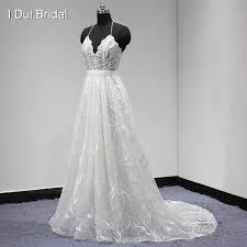 unique wedding dresses aliexpress buy unique lace wedding dress halter backless