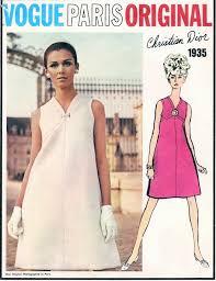v shaped dress pattern 1960s mod christian dior cocktail evening or day dress pattern vogue