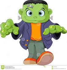 childrens halloween cartoons frankenstein kid royalty free stock image image 33493456