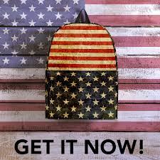 United States American Flag Great America U0027 Rustic American Flag Backpack