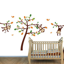 Nursery Stickers Jungle Wall Decals For Nursery U0026 Monkeys Stickers For Baby Room