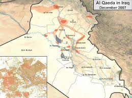Map Of Al Presence Of Al Qaeda In Iraq December 2007 Institute For The