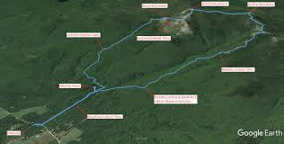 Green Circle Trail Map South And North Baldface