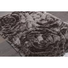 rugsville silky shag grey rug 10957 6x9 rugsville com