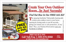 Sunsetter Retractable Awning Prices Go60 Sunsetter Awnings Free Info Kit U0026 Dvd