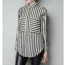 striped blouse black and white striped blouse on storenvy