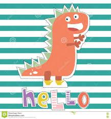 dinosaur character design for baby fashion ts hirt kids print