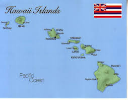 Map Of Usa And Hawaii by Map Of Hawaii Islands Hawaii Usa Maph02 1 00 Postcard