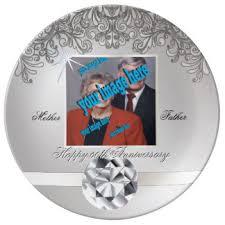 60th anniversary plates parents 60th wedding anniversary plates zazzle