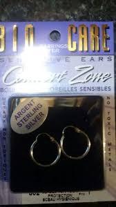 free bio care earrings for sensitive ears sterling silver
